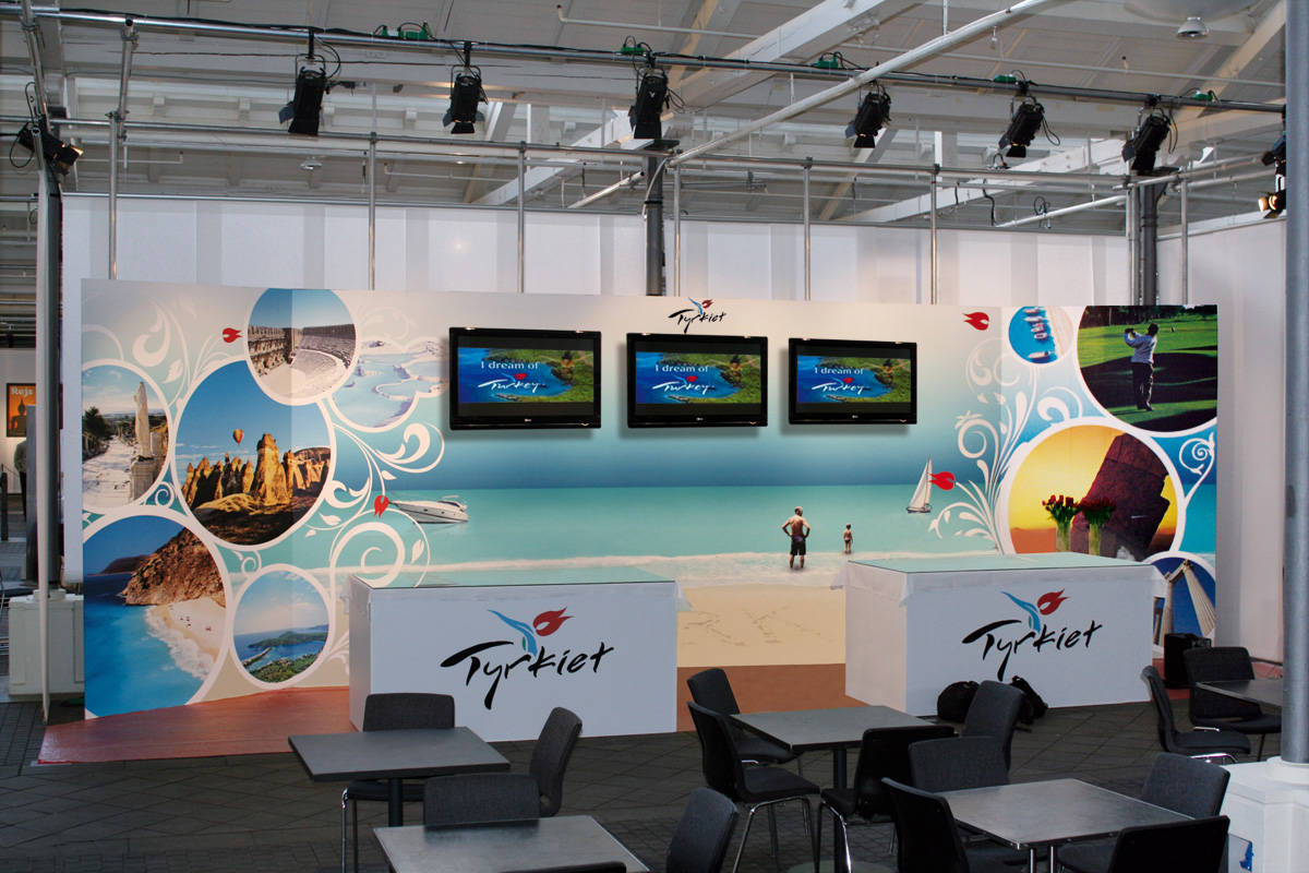 Messestand for Tyrkish Airlines i Øksne hallen